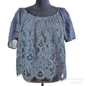 Anthropologie Moulinette Soeurs Messina Navy Top M